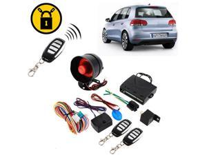 1-Way Car Vehicle Alarm Protection Safe Security System Keyless Entry Siren +2 Remote