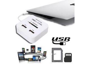 2 Ports High Speed USB3.1 Type-C Hub SD TF Card Reader Combo For New Macbook