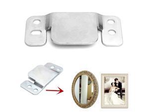 Interlocking Flush Slide Mount Frame Bracket Hangers Picture Mirror Hanging Wall