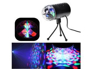US Type Crystal Magic Auto Strobe RGB LED Disco KTV Ball Effect Bar Stage Party Club Light