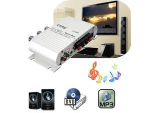Mini Car Motorcycle Home Hi-Fi Stereo Amplifier Amp For mp3 iPod PC DVD CD 12V