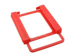 "2.5"" TO 3.5"" SSD HDD Notebook Hard Disk Mounting Adapter Bracket Dock Holder Red 131x100x15mm"