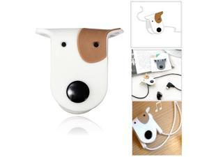 Cute Doggie Earphone Earbud Headphone Cable Cord Organizer Manager Wrap Winder