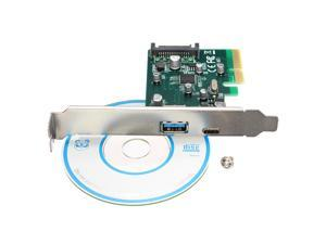 10Gbps PCI Express to 2 Prorts USB 3.1 Type-C USB 3.0 Converter Card 4pin Power