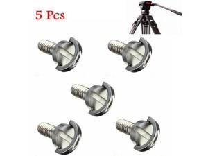 """5PCS 1/4"""" D-Ring Screw Stainless Steel For Camera Tripod Quick Release Plate Long"""