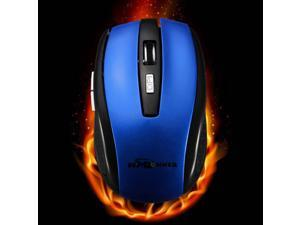 BESTRUNNER 2.4G USB Wireless Optical Mouse Mice Adaptable DPI For PC Laptop-Blue