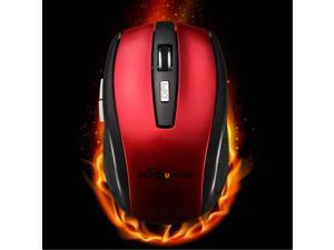 BESTRUNNER 2.4G USB Wireless Optical Mouse Mice Adaptable DPI For PC Laptop-Red