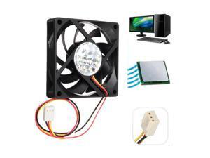 12V Internal Desktop Computer CPU Case Cooling Cooler  Silent Fan 7cm