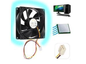 Black 12V 3 pin Internal Desktop Computer CPU Case Cooling Cooler Silent Fan 9cm