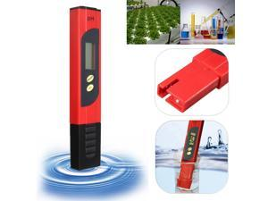 LCD Protable Digital PH Meter Tester Aquarium Pool Water Wine UrinePen Monitor - Red