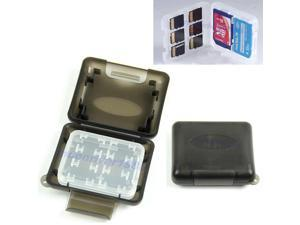 8 in 1 Memory Card Storage Box Secure Holder Plastic Case 1xMS 1xSD 6xTF