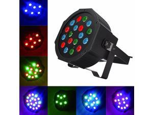 DMX-512 18W 18 LED Strobe Stage Light 7CH 5 Control Modes Party Club Pub KTV Disco DJ Light Lamp