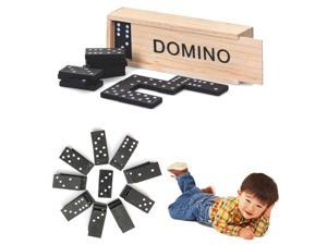 28 Pcs Kids Children's Wooden Boxed Domino Game Party Play Set Traditional Classic Toy Gifts