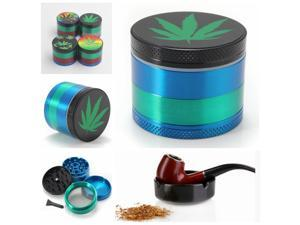 4 Parts 50mm Alloy Herbal Herb Weed Tobacco Grinder Smoke Cigar Crusher Muller