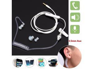 Spiral Acoustic Tube Coil Hollow Air Tube 3.5mm Anti-radiation Earphone with Mic for Samsung Apple HTC MOTO Nokia Lenovo Huawei