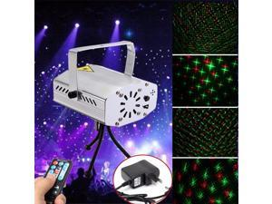 Silver Mini R&G Auto/Voice Actived Xmas Christmas DJ Disco Party Ball Club Pub KTV LED Laser Stage Light Projector Remote
