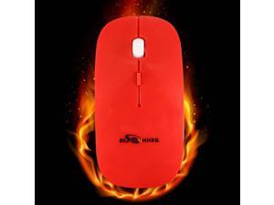 BESTRUNNER Pro 2.4GHz Wireless Optical Mouse Mice+USB Receiver For PC Laptop-Red
