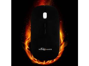 BESTRUNNER Pro 2.4GHz Wireless Optical Mouse Mice+USB Receiver For PC Laptop-Black