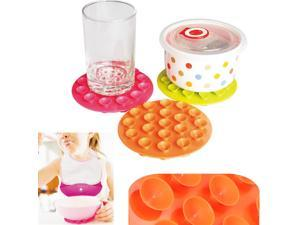 Silicone Magical Anti Slip Meal Suction Mat Kids Baby Bowl Pad Kitchen Cook Tool Non-slip
