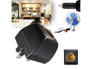 Universal 220V AC to 12V DC Car Cigarette Lighter Wall Power Adapter Converter UK Plug