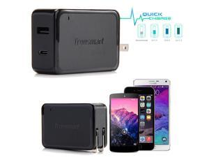 Qualcomm Quick Charge QC 3.0 USB Wall Charger + USB 3.1 Type-C for Nexus Samsung