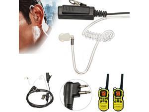2 Pin Headsets Mic Covert Acoustic Tube Earpieces For Motorola Radio Security