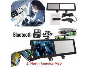 5 TFT 8GB Touch Screen Bluetooth Car GPS Navigation SAT NAV FM Rearview Mirror