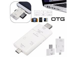 3in1 OTG USB 3.1 Type C + Micro USB + USB2.0 TF SD MS Card Reader for Phone Tab