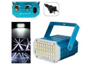 36x 5050 LED 10W Mini Stage Light DJ Strobe Flash Club Pub Party Disco Bar KTV White Light