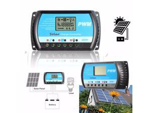USB 12/24V 20A LCD Solar Charge Panel Controller Regulator PWM for Max 50V 480W