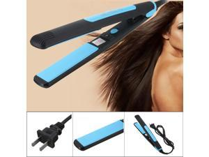 Portable 2 in 1 Hair Straightener/Curl Flat Iron Professional Fast Heated Ceramic