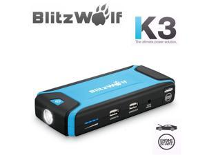 BlitzWolf? K3 400A Peak Current Jump Starter Multi-Function Car 12000mAh Dual USB Power Bank Safety Protection LED