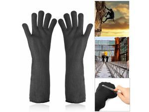 1 Pair Stainless Steel Wire Safety Work Cut Proof Sleeve Wrist Protector Armband Gloves