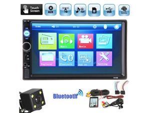 Free Camera 7 2 DIN Stereo Car MP5 Player Bluetooth Head Unit Radio FM USB AUX