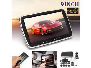 9Car HD LCD Touch Screen Player Headrest Pillow Monitor Mount SD/MP5/MP3/USB/FM