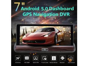 7 1080P HD Dash Car Rearview Traffic Camera Recorder With DVR GPS Navigation