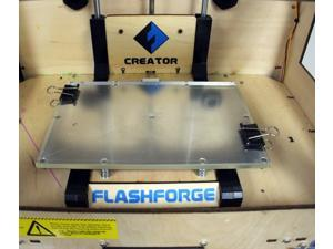 "Flashforge USA Thermal Glass for Dreamer / Creator series 3D Printer - fit 9"" x 6"" x 0.25"" Print Bed Platform (3D-STF-GLASS)"