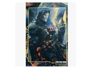 Overwatch anime around game around game poster Reaper Multicolor