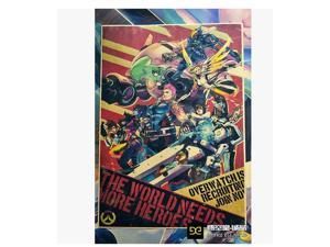 Overwatch anime around game around game poster the world need you Multicolor