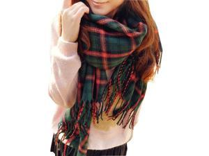 Fashion Women's Autumn and Winter Thick Warm Long Plaid Scarf