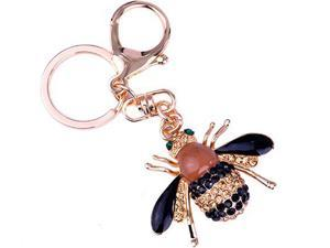 Shinning Little Bee Fashion Design New Arrival Crystal Bulingbuling Key Chains