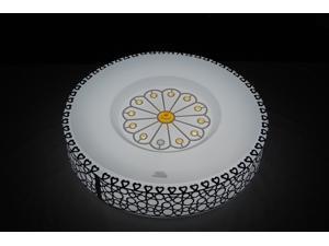 Fashion Decoration LED Home Ceiling Round Flush Mount Light White BO-MKR78B, 24 Watt 48 Leds