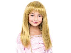 Glitzy Glamour Bob Gold Child Costume Wig One Size