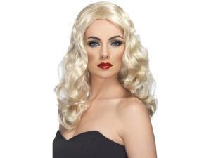Glamorous Wavy Costume Wig Adult Blonde One Size