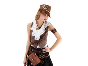 Steampunk Brown Cadet Costume Hat Adult One Size