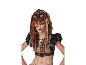 Steampunk Apocalypse Dreads Blonde Red Costume Wig Adult One Size