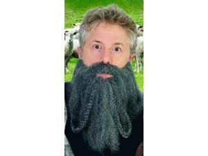 """12"""" Dark Grey Halfling Looped Braid Costume Beard One Size"""