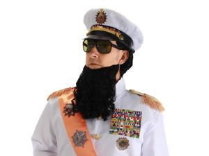The Dictator Costume Wig, Beard And Hat Set One Size