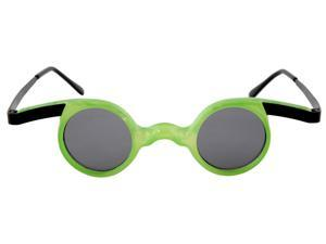 Mad Scientist Costume Glasses Adult: Green One Size