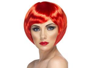 Babe Short Bob Costume Wig Adult Red One Size